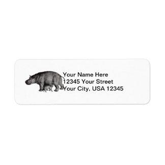 Hippo Return Address Label