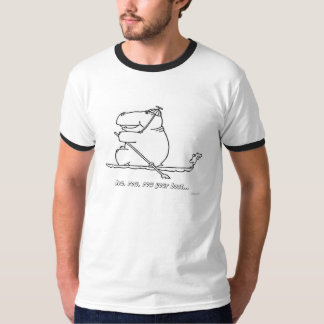 Hippo row, row, row your boat t-shirt