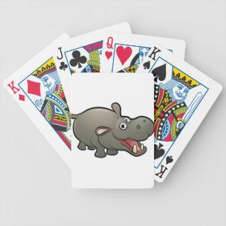 Hippo Safari Animals Cartoon Character Bicycle Playing Cards