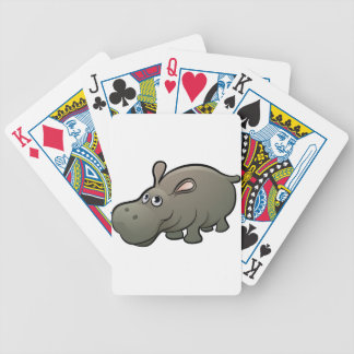 Hippo Safari Animals Cartoon Character Bicycle Playing Cards