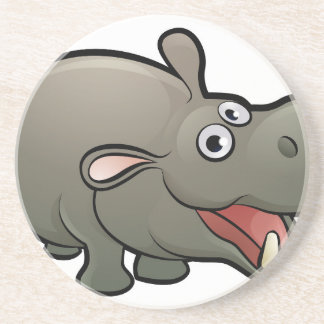 Hippo Safari Animals Cartoon Character Coaster