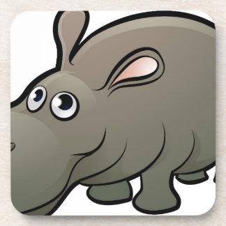 Hippo Safari Animals Cartoon Character Coaster