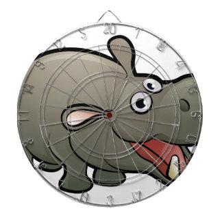 Hippo Safari Animals Cartoon Character Dartboard