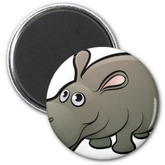 Hippo Safari Animals Cartoon Character Magnet