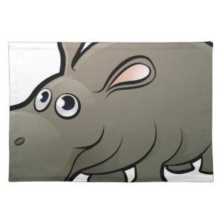 Hippo Safari Animals Cartoon Character Placemat