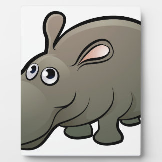 Hippo Safari Animals Cartoon Character Plaque