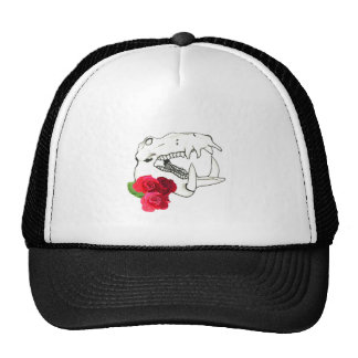 Hippo Skull with Roses Cap