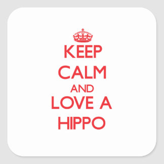 Hippo Square Sticker