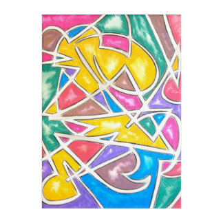 Hippo Star-Abstract Art Hand Painted Geometric