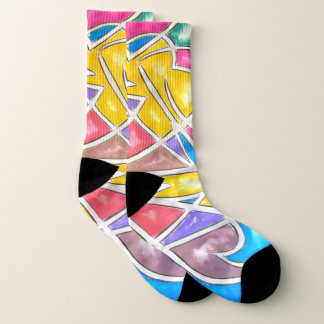 Hippo Star-Abstract Art Hand Painted Geometric 1