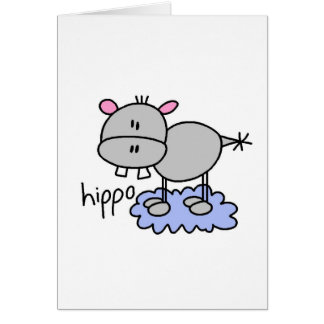 Hippo Stick Figure Card