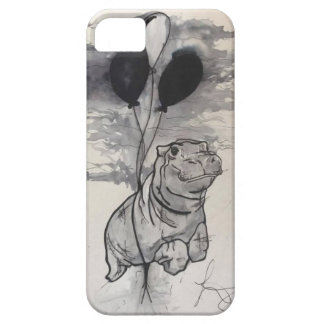 Hippo tattoo style phone case