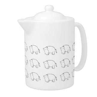 hippo teapot