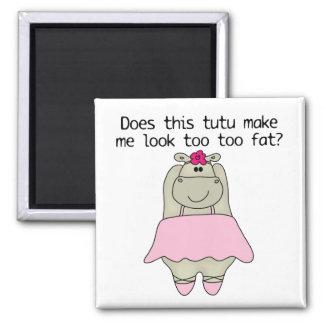 Hippo Tu Tu Fat Magnet