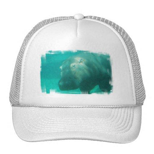 Hippo Under Water Baseball Hat