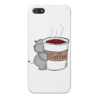 Hippo with Coffee iPhone 5 Cases