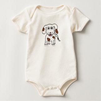 "Hippo Works Organic Baby Bodysuit ""Doggie"""
