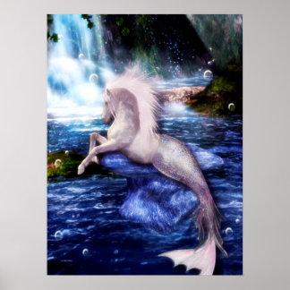 Hippocamp Merhorse Fantasy Equine Art Poster