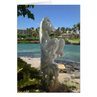 Hippocampus (Sea-Horse) Statue, Waikoloa, Hawaii Card