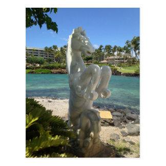 Hippocampus (Sea-Horse) Statue, Waikoloa, Hawaii Postcard