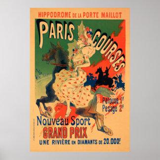 Hippodrome de Porte Maillot, Paris Courses Vintage Poster