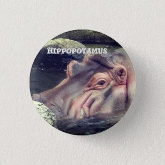 Hippopotamus 3 Cm Round Badge