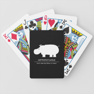 Hippopotamus Bicycle Playing Cards