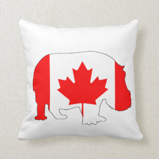 Hippopotamus Canada Cushion