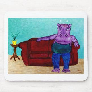 Hippopotamus Cartoon Mouse Pad