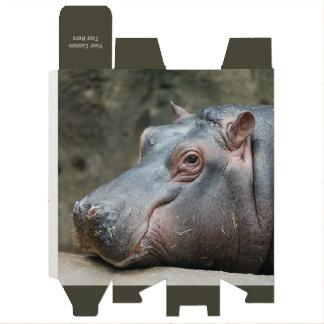 Hippopotamus custom wine gift box