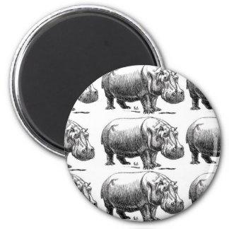 hippopotamus gold magnet