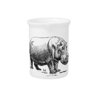 hippopotamus gold pitcher