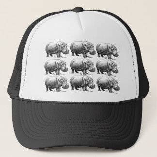 hippopotamus gold trucker hat