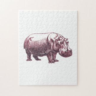 Hippopotamus Jigsaw Puzzle