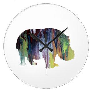 Hippopotamus Large Clock