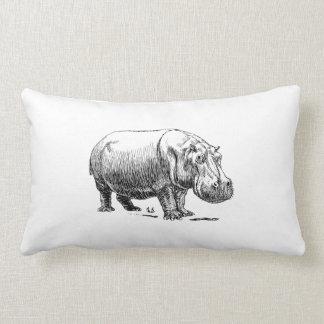 Hippopotamus Lumbar Cushion