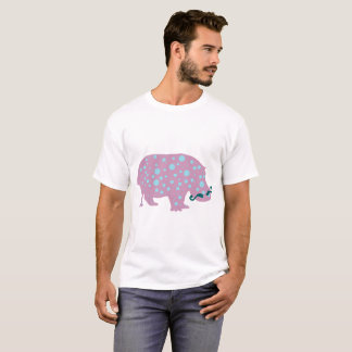 Hippopotamus moustache Men's Basic T-Shirt, White T-Shirt