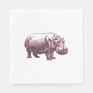 Hippopotamus Paper Serviettes