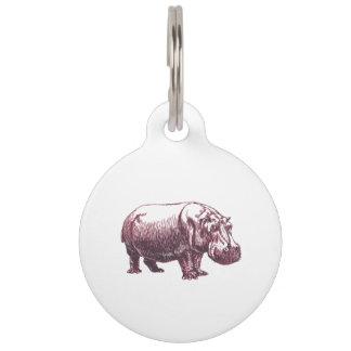 Hippopotamus Pet Name Tag
