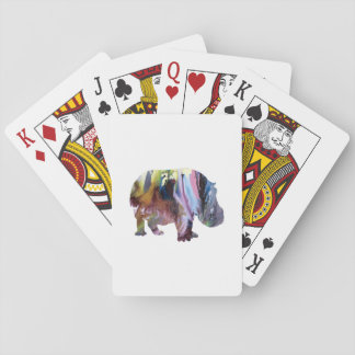 Hippopotamus Playing Cards