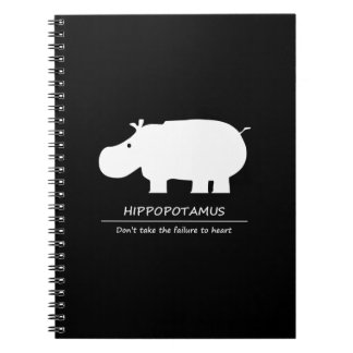 Hippopotamus Spiral Note Book