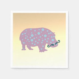 Hippopotamus  Standard Cocktail Paper Napkins