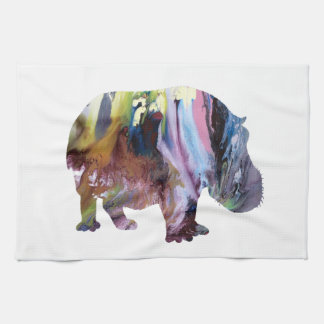 Hippopotamus Tea Towel
