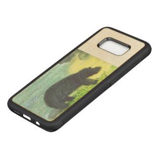 Hippopotamus Wildlife Animal Art Carved Samsung Galaxy S8 Case