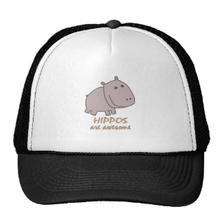 Hippos are Awesome Trucker Hats