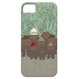 Hippos iPhone SE + iPhone 5/5S, Barely There Case