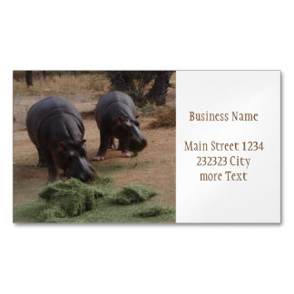 hippos magnetic business cards