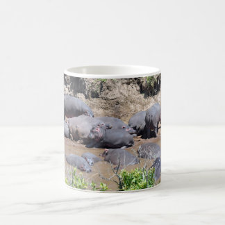 Hippos on a Riverbank Mug