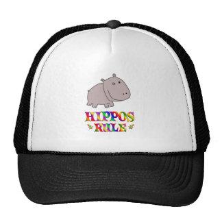 Hippos Rule Trucker Hats