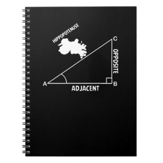 Hippotenuse Hypotenuse Hippo Trig Math Teacher Spiral Notebook